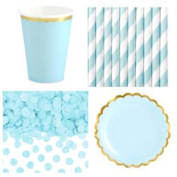 Kék színű parti dekoráció