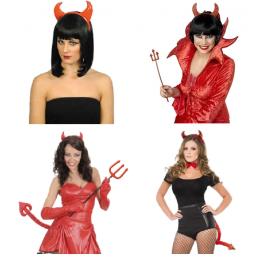 Ördög jelmez mikulásra ördög szarvval, ördög farokkal