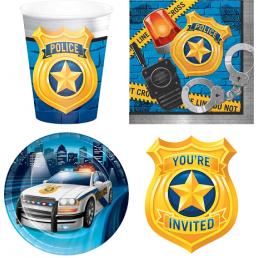 Rendőr témájú születésnapi parti dekoráció