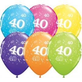 40 éves születésnapi képeslap Tombol a számos őrület a születésnapi partikon   Partydecor Lufi  40 éves születésnapi képeslap