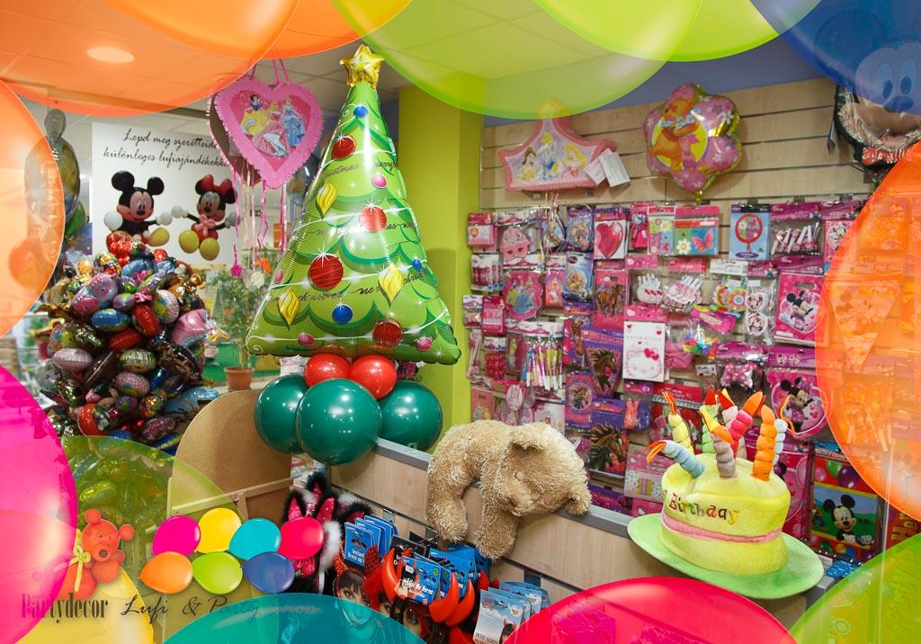 születésnapi buli kellékek Lufi és Party Bolt Veszprémben születésnapi buli kellékek