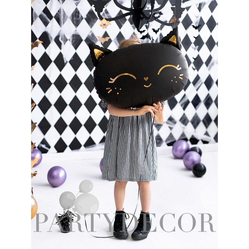 fekete cica lufi