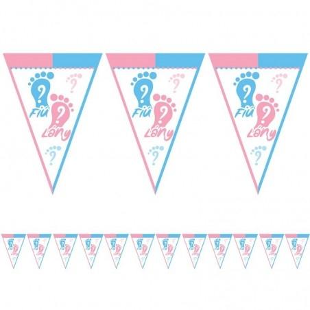 gender party dekoráció