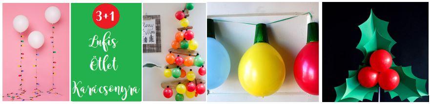 Karácsonyi lufis ötletek DIY