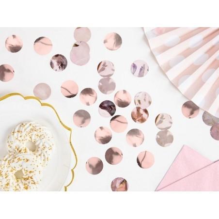 rosegold dekoráció konfetti