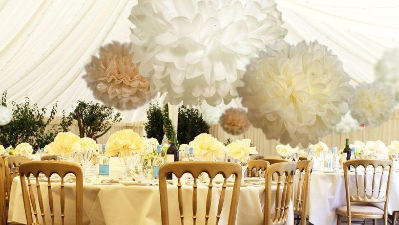 Papír pom pom esküvőre