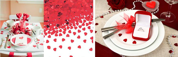 Konfetti dekoráció Valentin napra