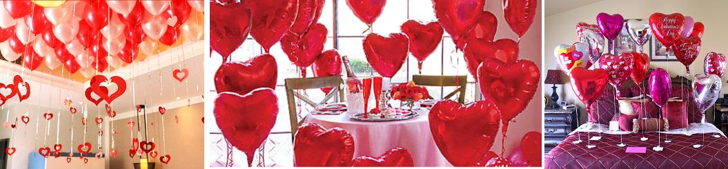 Valenti napi héliumos lufi dekoráció